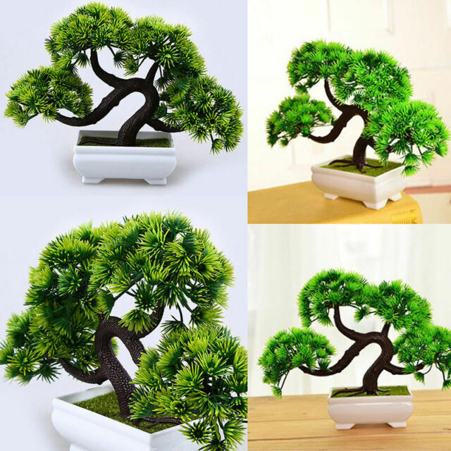 Artificial Bonsai Tree Welcoming Plant Fake Green Plants Simulation Pine Tree For Sale Online
