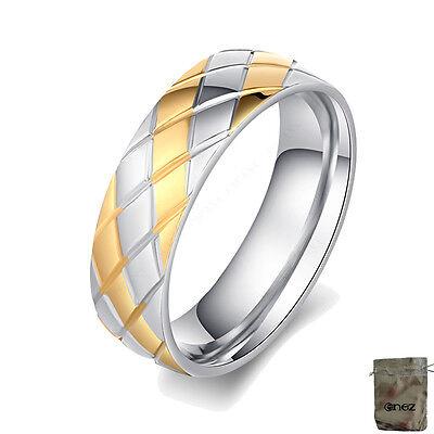 Gelernt Original Enez Ring Trauring Ehering Edelstahlring Gr: 7 (17,2mm) B: 6mm R2610 + Niedriger Preis