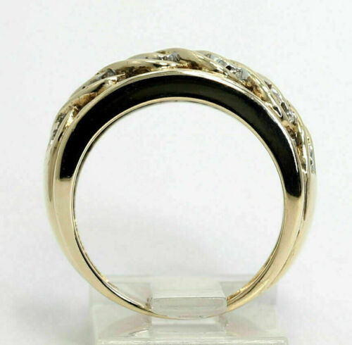 Details about  /1.35Ct Diamond Cluster Half Eternity Band Wedding Ring 14k Yellow Gold Over