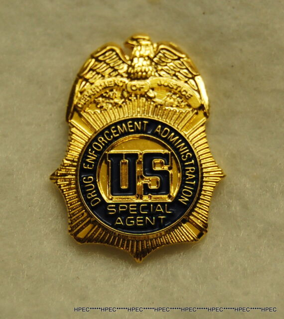 US DEA Special Agent  badge lapel pin w/ US seal  Federal Police  CIA FBI NSA