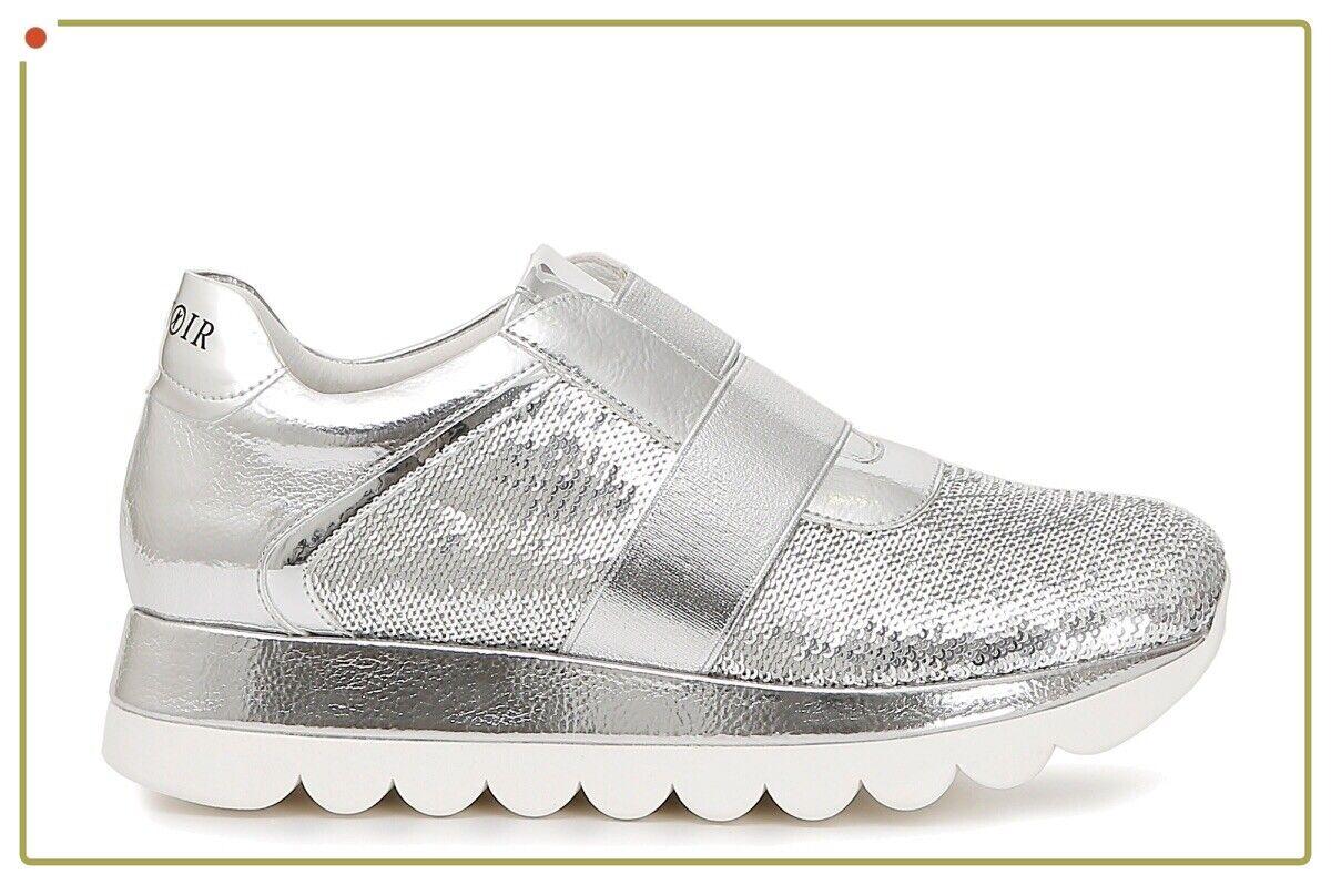Cafenero scarpe donna scarpe da ginnastica slipon hight hight hight top tacco zeppa ginnastica pelle new e72040