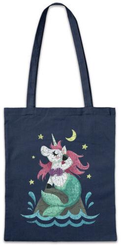 Unimaid Night Stofftasche Einkaufstasche Unicorn Fun Einhorn Meerjungfrau