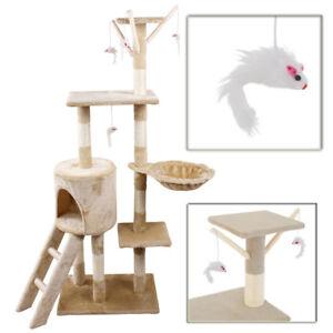 Cat-Tree-Scratching-Climbing-Activity-Centre-Sisal-Bed-Toys-Scratcher-Tower-DCUK