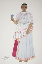 INDE FRANCAISE FEMME DE YANAON-EMILE GALLOIS GRAVURE PRINT 1946 II