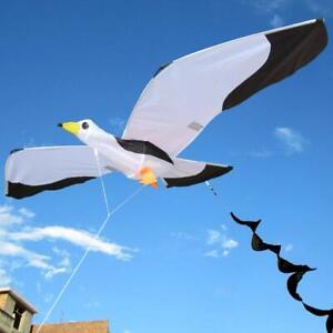 NEW-3D-Single-Line-Seagull-Kites-Outdoor-Fun-Sports-Beach-Single-Line-Kite-white