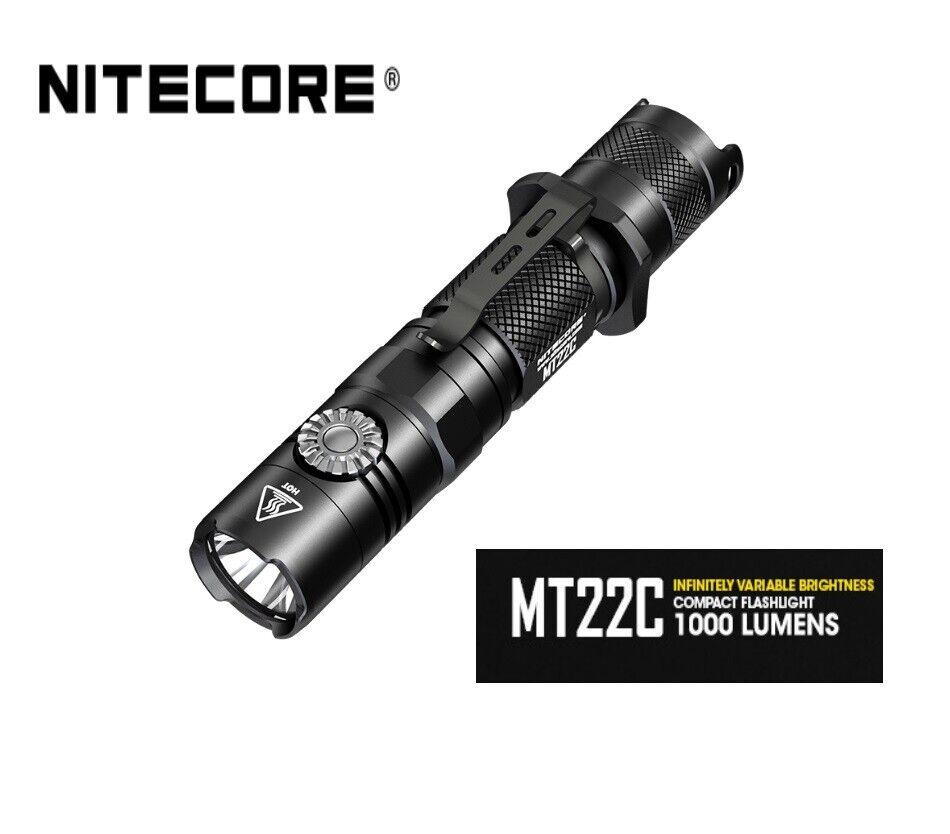 Nitecore Nitecore Nitecore MT22C Luce Variabile Torcia led tattica 1000 lumens 185 metri 7667a2