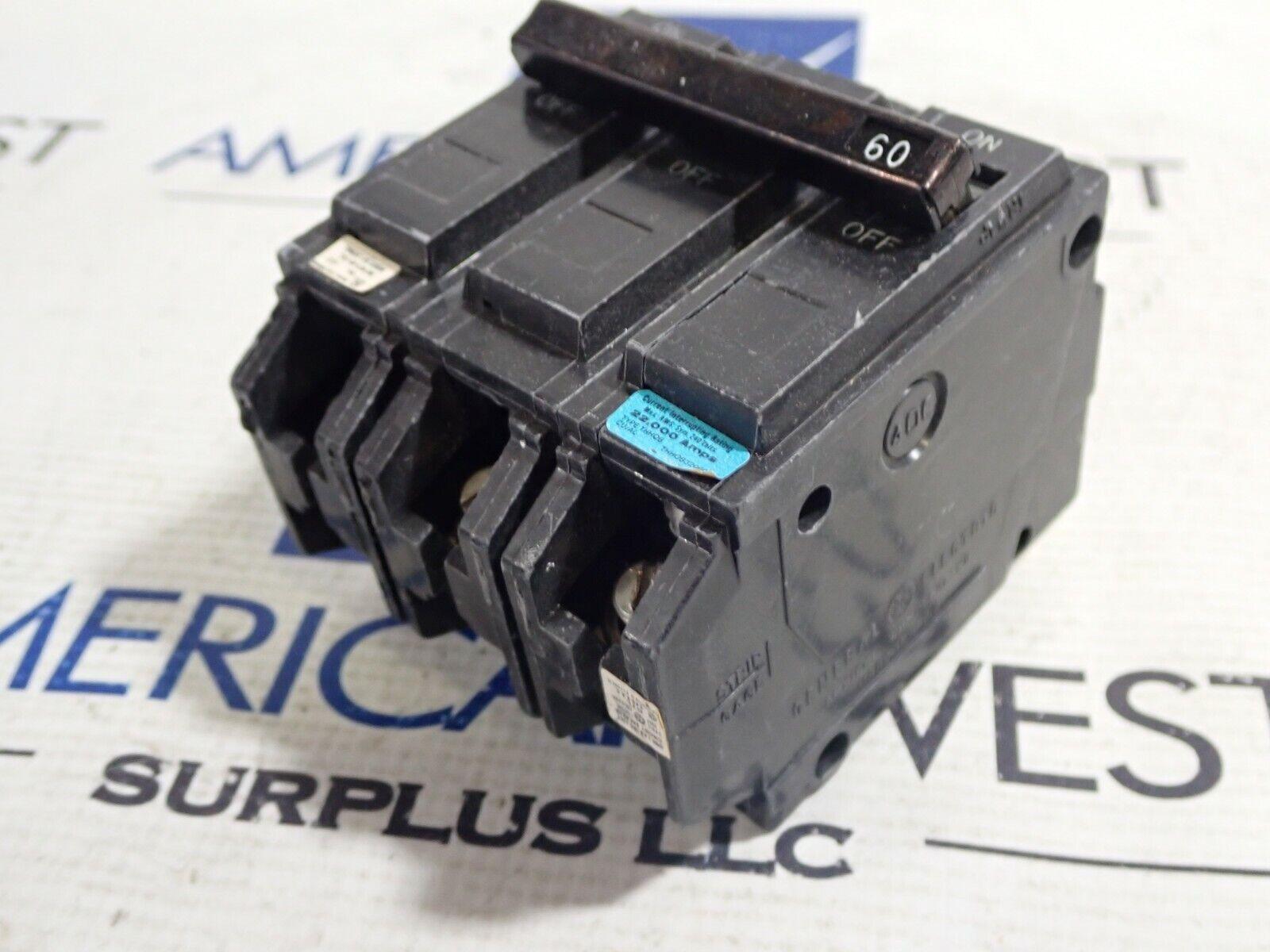 22kA General Electric Circuit Breaker 240V THQ - THHQB32060 60A 3Pole GE