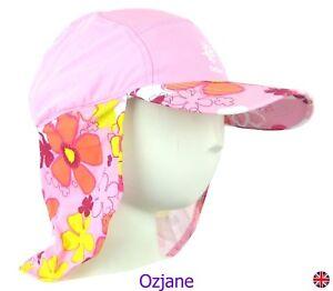 Bebe-ninas-UV-50-ozcoz-Sun-Swim-Sombrero-Sol-Proteccion-legionario-Rosa-1-a-2-anos