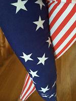 High Waisted Usa American Flag Red Blue Stars Stripes Skinny Pants Rayon S M L