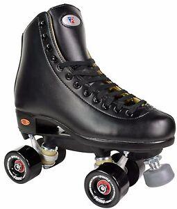 Riedell-111-Fame-Men-Size-4-13-Indoor-Rink-Roller-Skates-Black-Boot-Black-Wheels