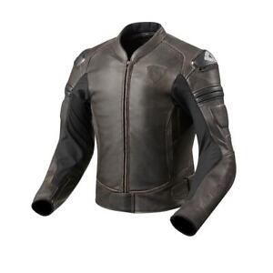 Details zu revit Akira Vintage Motorradjacke Lederjacke braun klassisch gestylt Gr. 46 58