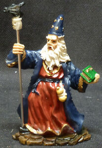 WARD-OFF-Wizard-with-Staff-and-Crystal-Book-Statue-Figurine-H4-5-034