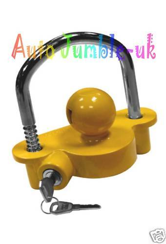 ANTI-THEFT STEEL TRAILER CARAVAN HITCH COUPLING LOCK Tow Bar Security Universal