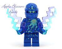 Lego Ninjago Nrg Jay Ninja Minifig - Blue Minifigure W/lightning Bolts 9570