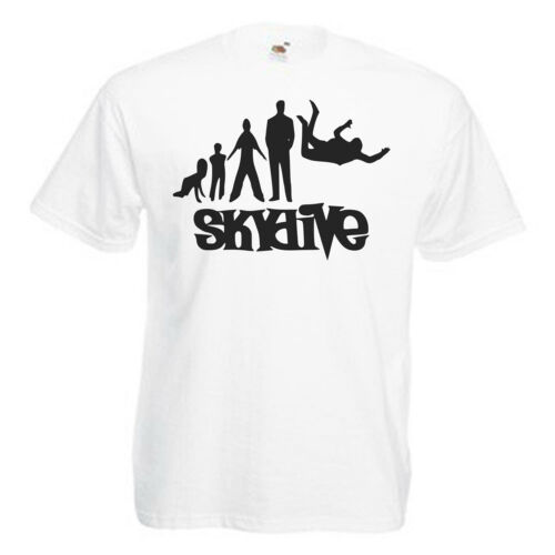 Skydiving Skydive Adults Mens T Shirt 12 Colours Size S 3XL