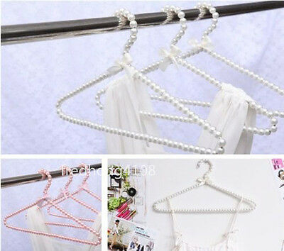 Plastic Pearl Bow Coat Hanger Clothes Hangers fashion For Adult
