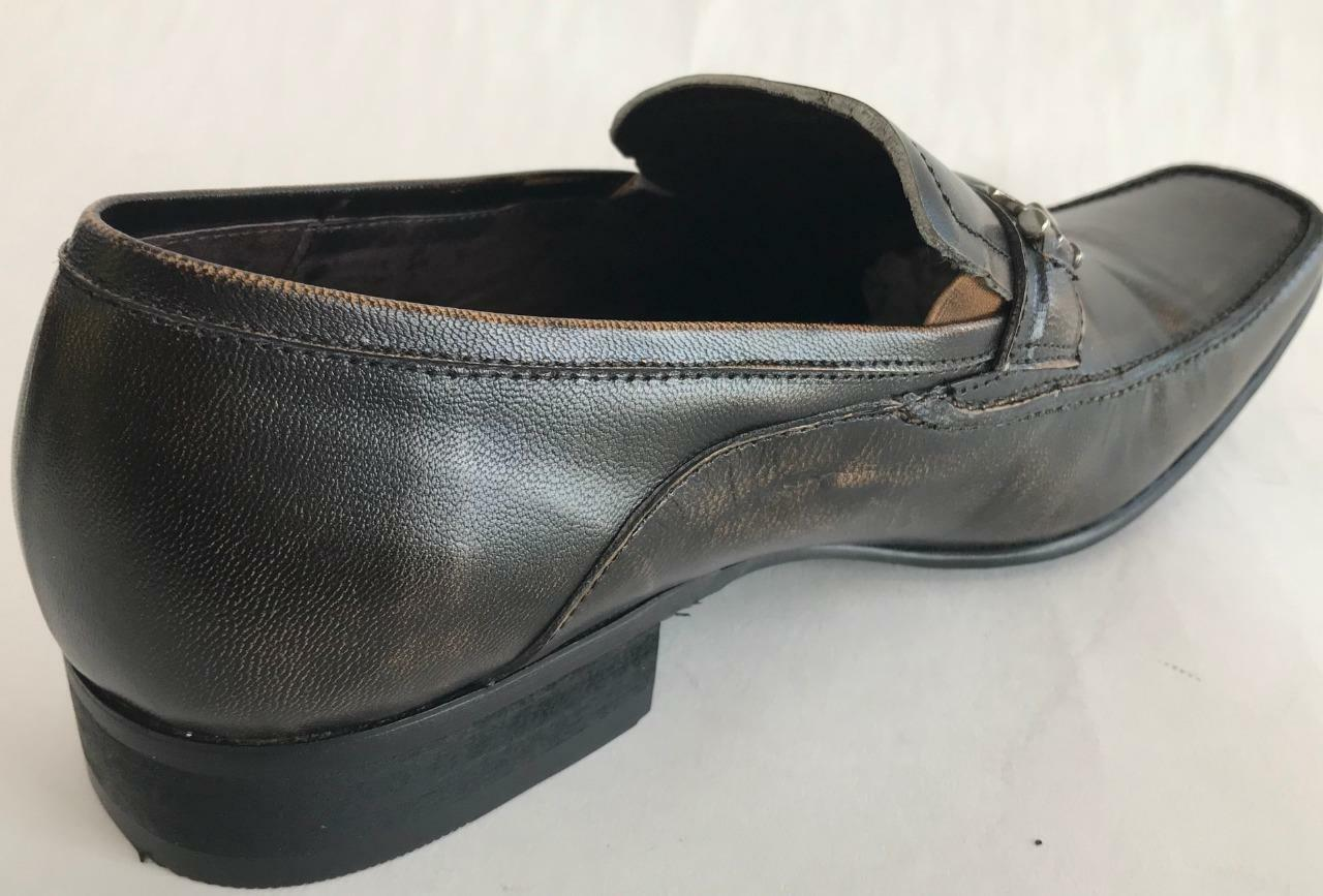 New Fiesso Brown Slip Shoes On Leather Dress Shoes Slip FI 6250 4b4f5f