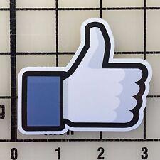 """Facebook Like 3"""" Wide Vinyl Decal Sticker - BOGO"""