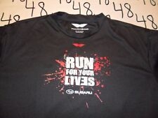 XL- Dri Fit Run For Your Lives Subaru / Damaged T- Shirt