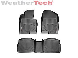 weathertech floor mats floorliner for hyundai sonata 2011 2015 black ebay. Black Bedroom Furniture Sets. Home Design Ideas