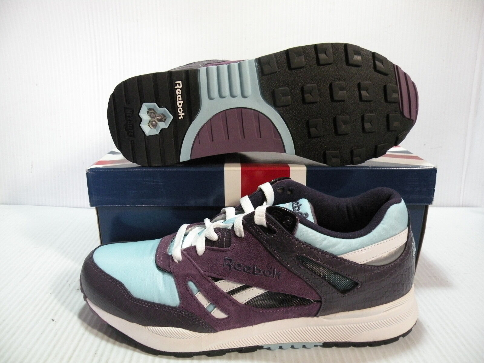 REEBOK VENTILATOR LXR LOW SNEAKERS MEN SHOES PURPLE blueE -158106 SIZE 8.5 NEW