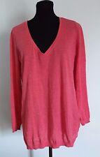 Gap Sweater Size Medium Pink Longsleeve Lightweight V Neck Top