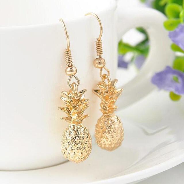 New Fashion Women Drangles Earrings Statement Pineapple Charms Earrings Jewelry