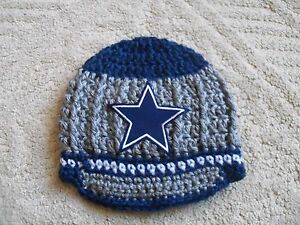 New Handmade Crochet Baby Dallas Cowboys Hat Ebay