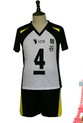 Haikyuu Volleyball Fukurodani Academy #4-5 Keiji Akaashi Cosplay Sports Costume