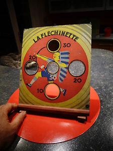 Ancien-Jeu-de-Flechette-LA-FLECHINETTE-CDL-Bois-et-Carton