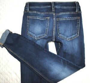Daytrip-Buckle-Lynx-Skinny-Mid-Rise-Plain-Pocket-Womens-Denim-Jeans-4-27-x-32