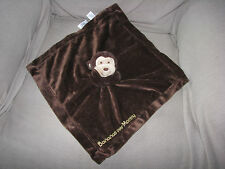Carters Bananas Over Mommy Monkey Security Blanket Baby Lovey Brown Rattle Satin