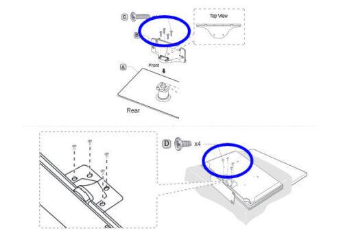 NEW Samsung UN55D6000SF LCD TV Stand Screws Set of EIGHT 8