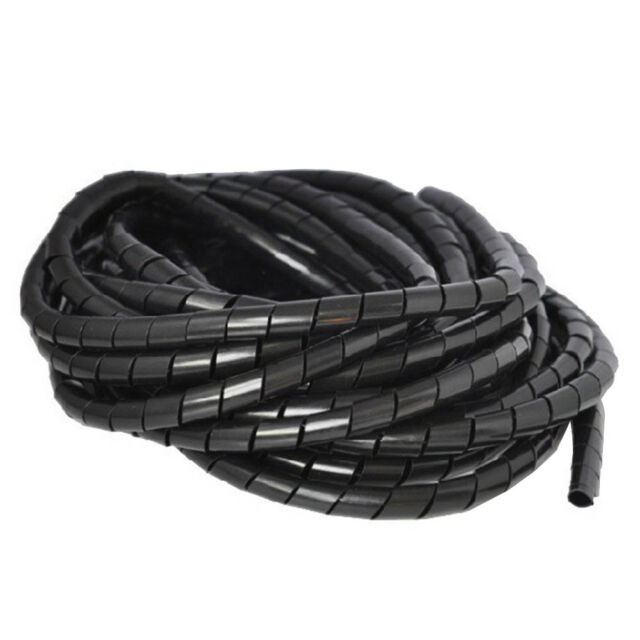 Tidy Wire Spiral Cable 2m 3 5 6 8 10 12 15 20m Wrap PC TV Organising Tube 4-30mm