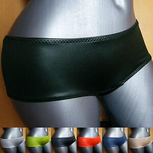glaenzender-Damen-Panty-Slip-Metallic-unifarben-Gr-36-38-40-42