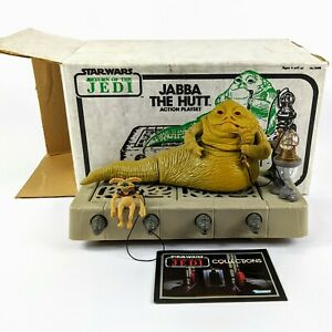 1983-Vtg-Kenner-Star-Wars-Jabba-the-Hutt-Action-Playset-Sears-Line-Art-with-Box