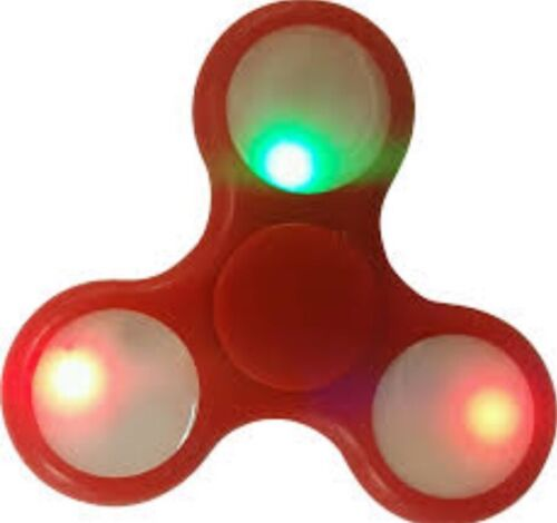 5 PC RED LED Light Up Fidget Spinner Toys Fast Shipping!!