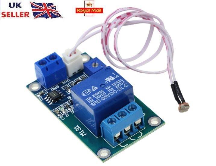 12V Car Light Control Switch Photoresistor Relay Module Light Detection Sensor