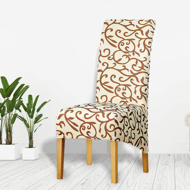 Floral Stretch Spandex Dining Chair Cover Washable ...