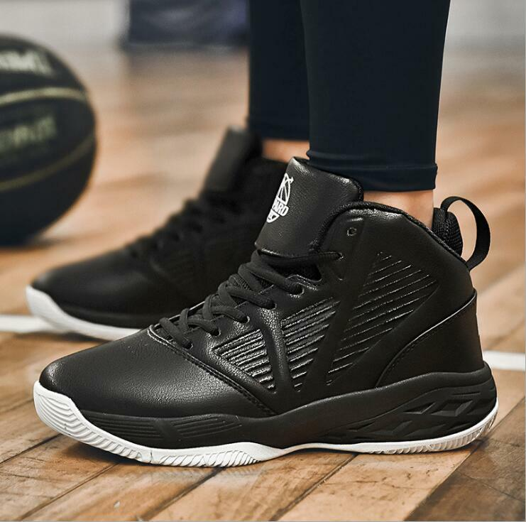 Mens Non-slip Shock Basketball shoes Casual Flat High-top Sneaker US10 Ths01
