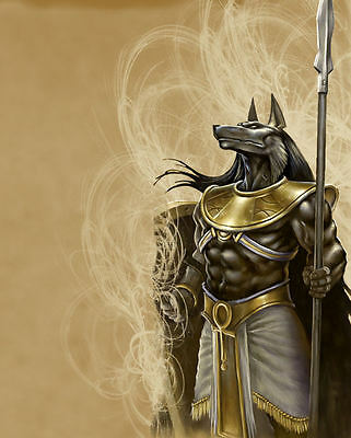 "A4 Poster - The Egyptian God of the Dead ""Anubis"" (Mythological Fantasy Picture)"