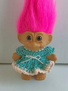 Clothes-for-3-034-Troll-Doll-Dress-Handmade-USA-Dollchris-Designs-Aqua-Lot-T-11
