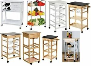 Image is loading Movable-Kitchen-Storage-Trolley-Fruit-Vegetable-Cart-With-  sc 1 st  eBay & Movable Kitchen Storage Trolley Fruit Vegetable Cart With Drawer ...