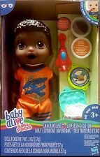 Baby Alive Snackin Luke African American Boy Doll -Eats and poops -New in stock