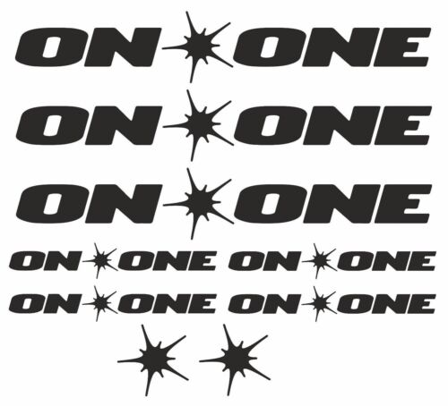 On One Replacement Vinyl Decal Graphic Sticker Set MTB DH XC Bike