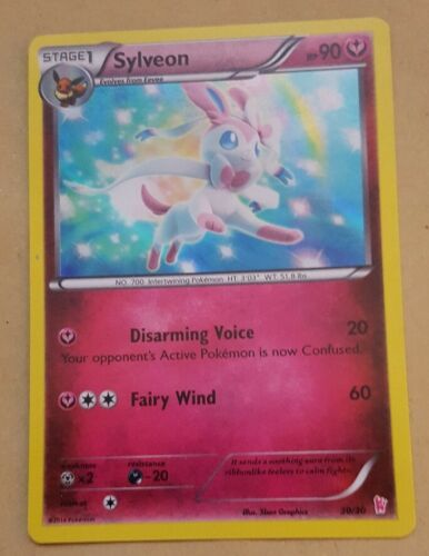 XY TRAINER KIT HOLOFOIL SYLVEON 30//30 POKEMON PROMO CARD