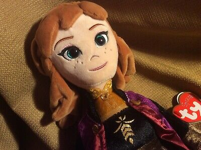 "FROZEN 2 Sparkle 2019 TY Inc 15"" ELSA Doll Disney Beanie Buddies Collection NWT"