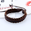 Adjustable-Men-Genuine-Leather-Bracelet-Braided-Wristband-Charm-Bangle-Handmade miniatura 6