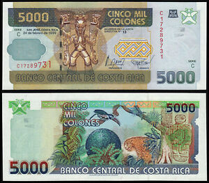COSTA-RICA-5000-COLONES-P268Aa-1999-UNC