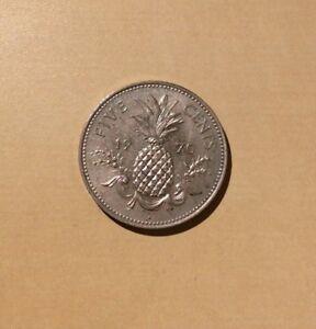"Bahamas Five Cent 1970 ""You Grade It"" - Pineapple"